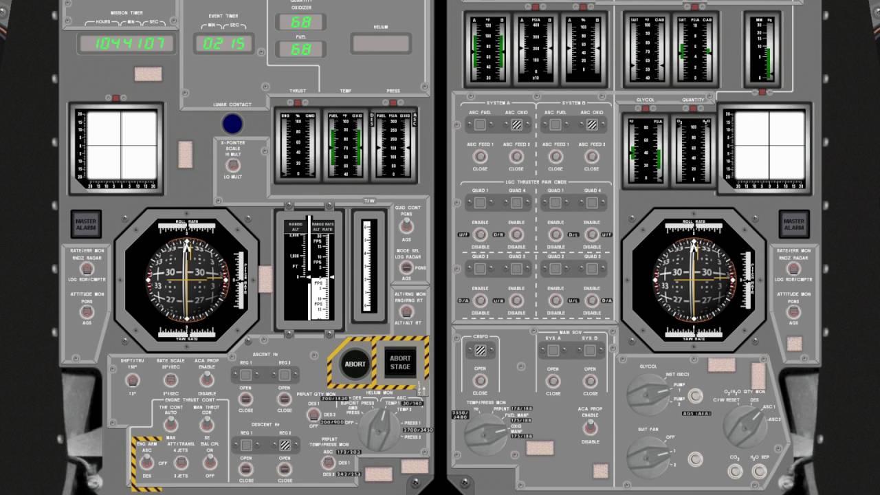 Project Apollo NASSP 7.0 Beta - Apollo 11 Lunar Ascent with Virtual ...