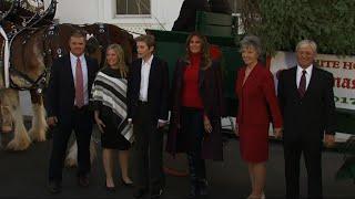 Melania Trump Welcomes WH Christmas Tree