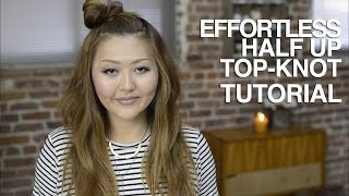 Effortless Half Up Top-Knot Tutorial Thumbnail