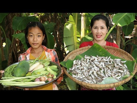 Awesome Cooking Small Fish With Vegetables Healthy food - Cook Fish Recipes - Village Food Factory