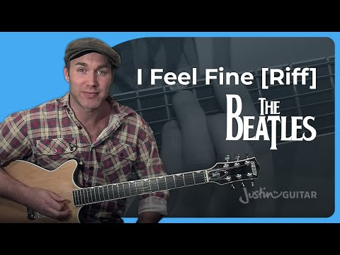 Riff #9: I Feel Fine - The Beatles (Songs Guitar Lesson RF-009) How to play