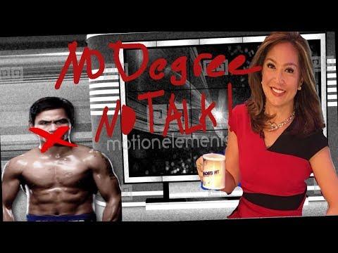 Manny Pacquiao vs Karen Davila -  The College Degree Holder vs The Non College Degree Holder