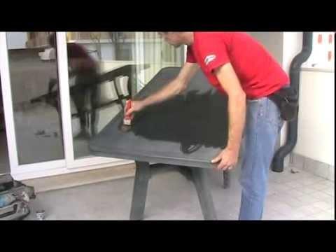 Rinnovare tavolo in plastica da giardino con Blacktraction