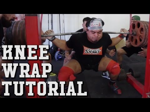 How To Wrap Your Own Knees For Big Squats!