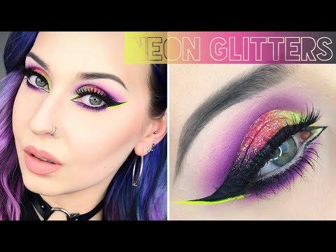 Neon Glitter cut crease  Marion Cameleon