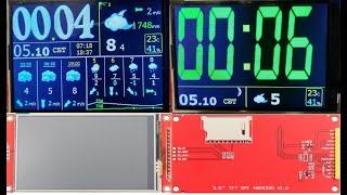 метеостанция  Esp32,ESP8266 + 3.5'' SPI tft 320x480 ч.3
