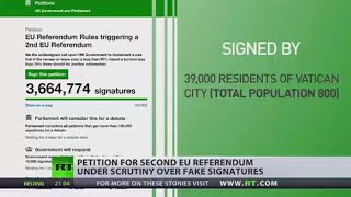 Petition for second EU referendum under scrutiny over fake signatures