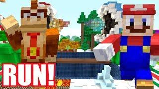 DO NOT FALL OF THE DANGEROUS BRIDGE! *MINIGAME!* | Mario's Nintendo Land | Minecraft [65]