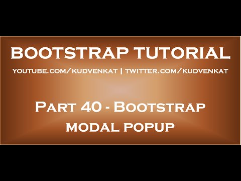 Bootstrap modal popup