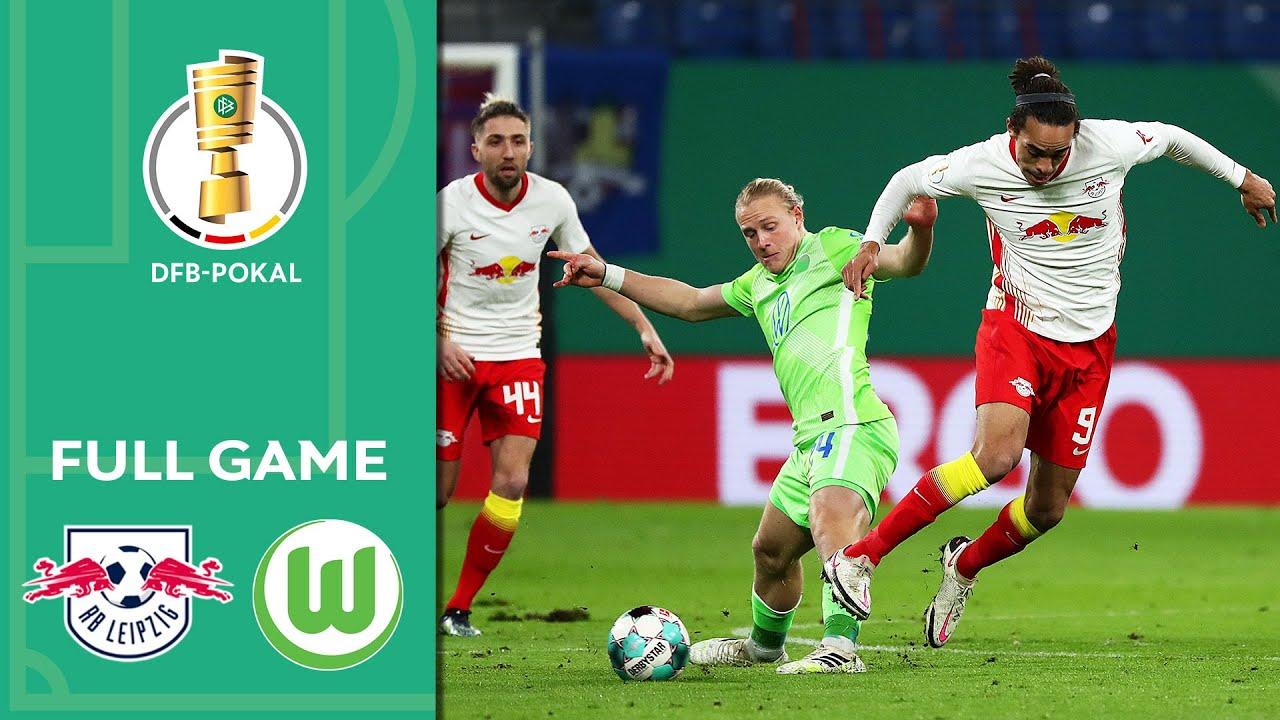 RB Leipzig vs. VfL Wolfsburg 2-0   Full Game   DFB-Pokal 2020/21   Quarter Finals