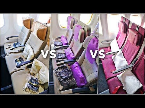 EMIRATES vs ETIHAD vs QATAR Economy Class | Which Airline Is