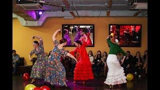 """Sevillanas от студии танца """"Flamencia"""". La fiesta de cumpleaños de la-escuela.ru"""