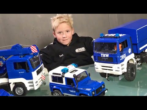 Thumbnail: BRUDER Toys Videos✅ THW Bruder Trucks Collection 150.000 Subscribers👍