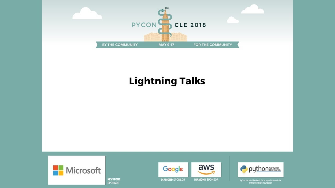 Image from Lightning Talks Friday 2018-05-11