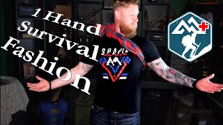 Flannel Shirt Bandage — 1 Hand Method