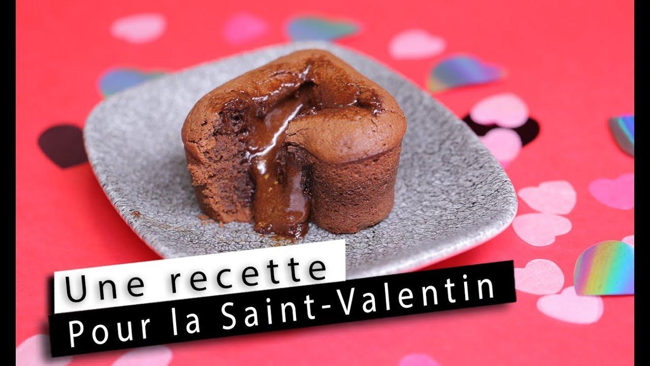 saint valentin la recette des coeurs coulants au chocolat youtube. Black Bedroom Furniture Sets. Home Design Ideas