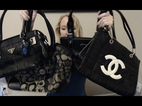 ASMR 👜 Thrift Shopping Haul Show & Tell PURSES!