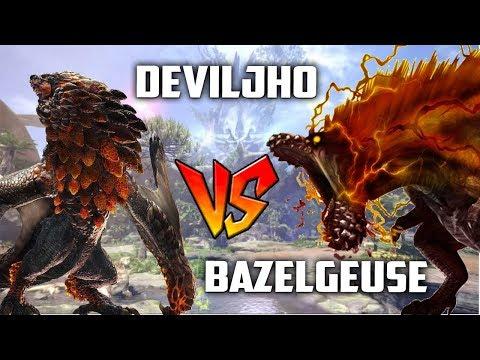 Deviljho VS Bazelgeuse! First Deviljho Fight Gameplay Monster Hunter World Update