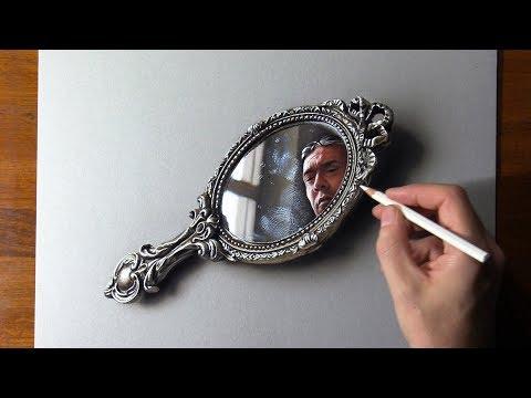 Mirror Self-Portrait Drawing