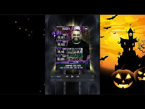 Happy Halloween+ WWE Supercard!!! (Three new tiers - Gothic, Neon, and Shattered)
