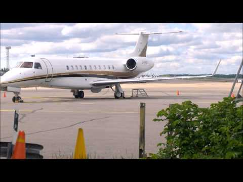 miley cyrys´s private jet at helsinki-vantaa airport