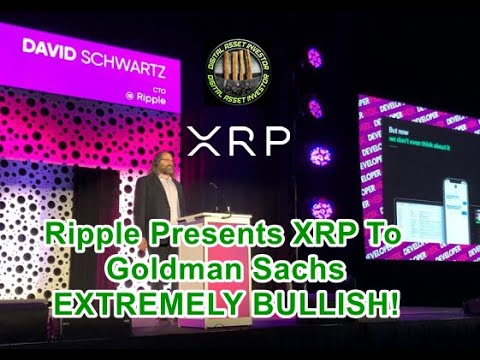 XRP Price Holds Strong , Ripple Exec Presents XRP To Goldman Sachs BULLISH! 2