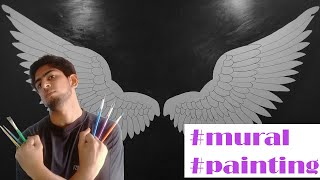 Angel Wings Mural Painting | Time Lapse