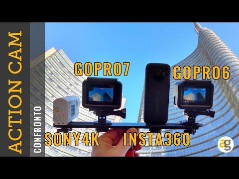 Confronto ACTION CAM GoPro 7 vs. INSTA 360 vs. GoPro 6 vs. Sony X3000