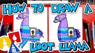 How To Draw Tнe Loot Llama From Fortnite