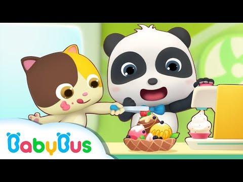 Baby Panda's Ice Cream Day | Baby Panda's Dessert Truck | Kids Pretend Play | BabyBus