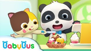 Baby Panda's Ice Cream Day | Baby Panda's Dessert Truck | Kids Pretend Play | BabyBus