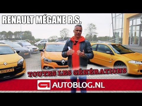 Renault Mégane R.S: alle generaties rijtest