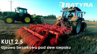 Agregat bezorkowy KULT 2.5 - BATYRA Maszyny Rolnicze + Valtra + Ściernisko z pociętą słomą