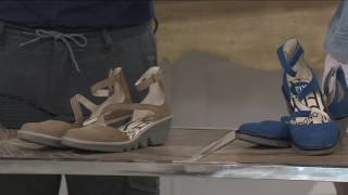 FLY London Leather Closed Toe Wedges - Plan on QVC