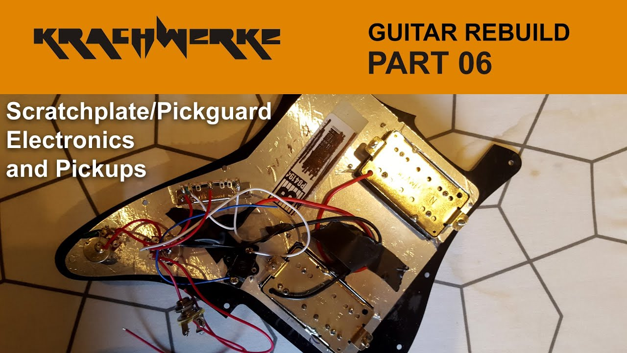 Guitar Rebuild Part 06 Electrics Wiring And Killswitch