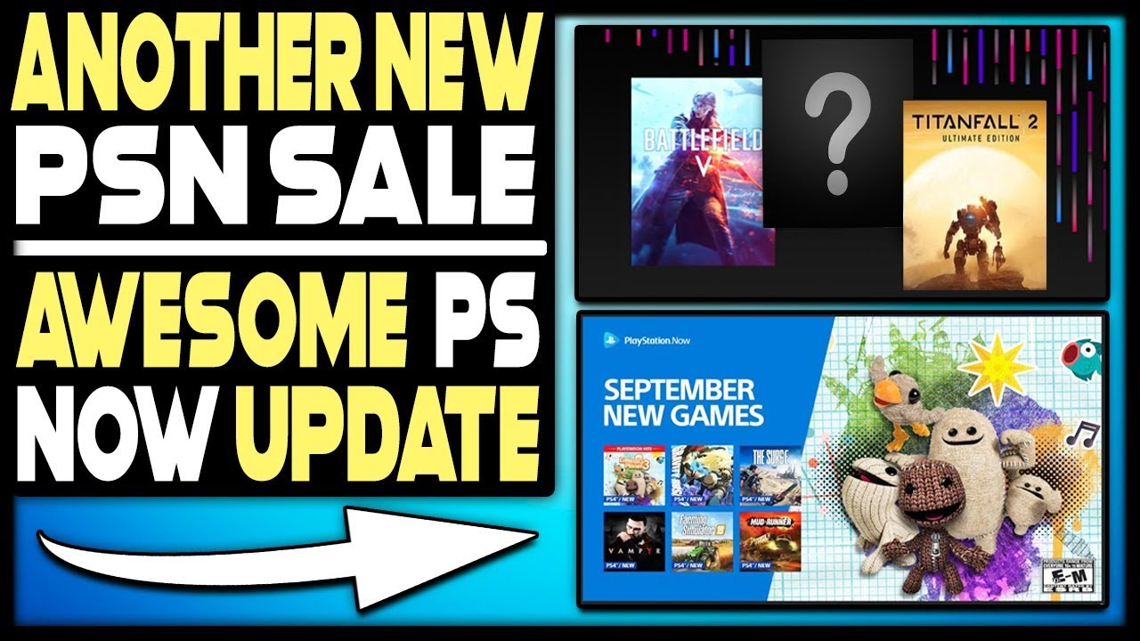 ANOTHER NEW PSN SALE + AWESOME PS Now Update!