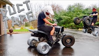 Download DRIFT QUAD DUCT TAPE TIRES!!! This Was Crazy.. Mp3 and Videos
