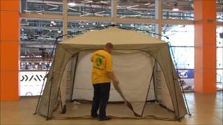 Тент-шатер GREENELL ТАЕРК  быстросборный(Самый большой тент-беседка с телескопическими дугами. Надежная и устойчивая конструкция. Четыре входа..., 2016-03-22T10:37:37.000Z)
