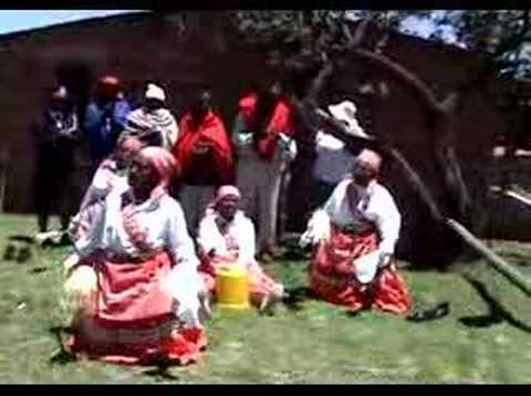 LESOTHO - danza a mapoteng - dance at mapoteng