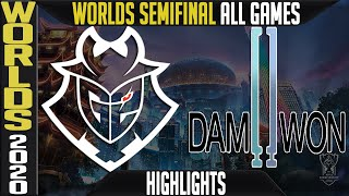 G2 vs DWG Highlights ALL GAMES | Semifinals Worlds 2020 Playoffs | G2 Esports vs Damwon Gaming