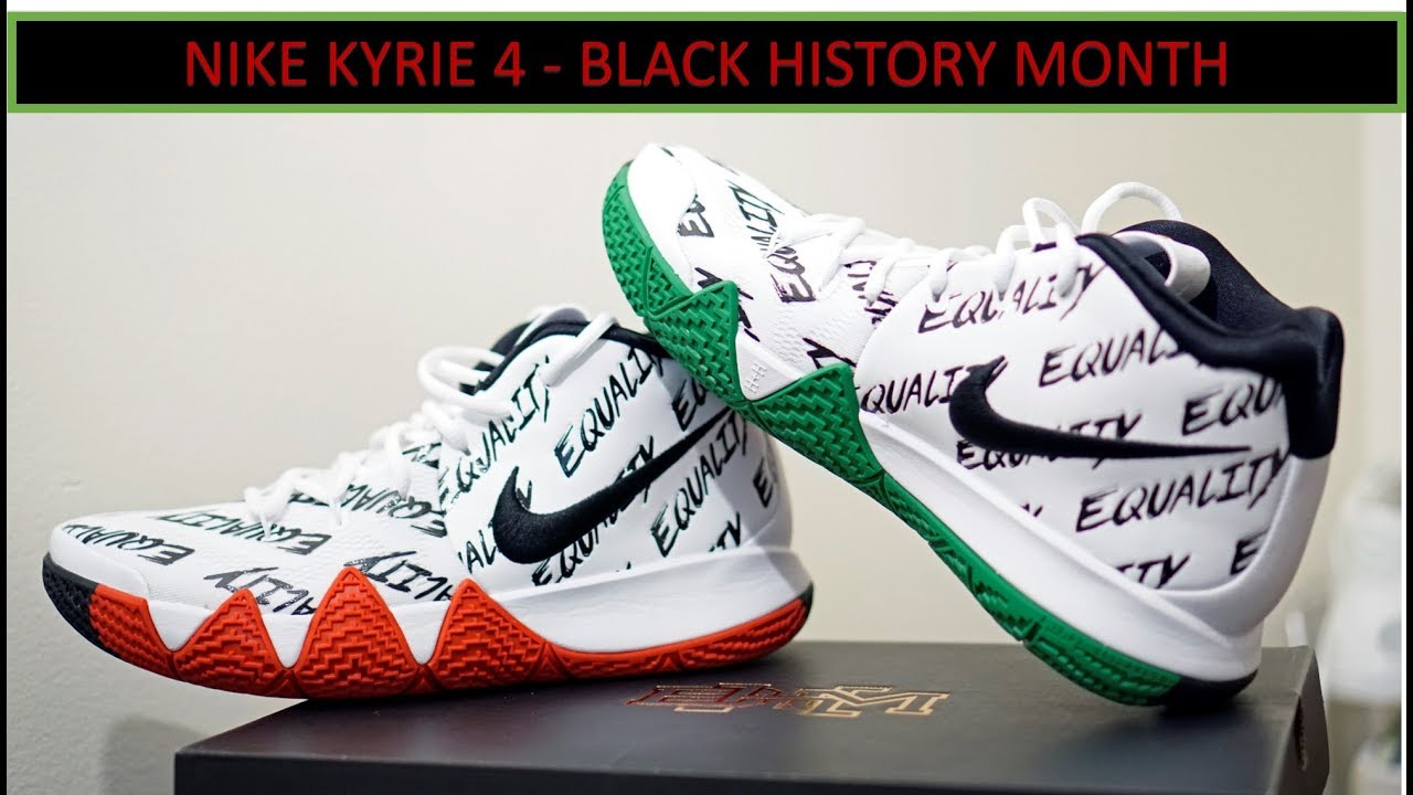 REVIEW & ON-FEET - Nike Kyrie 4 - Black History Month