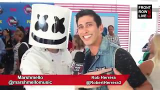 """marshmello interview on new single """"silence"""" ft khalid love for new found glory"""
