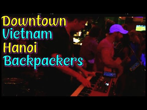 Downtown Vietnam Hanoi backpackers