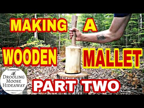 WOODEN MALLET DIY - Hand Tools Only! - Part 2
