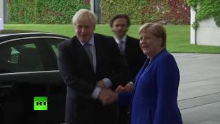 LIVE: Boris Johnson meets Angela Merkel for the first time since becoming PM