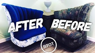 Diy Upholstery For Beginners : How To Reupholster A Chair