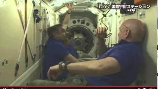油井宇宙飛行士 ソユーズ「TMA-17M宇宙船(43S)」ハッチオープン、ISS国際宇宙ステーションにドッキングしISSに入室