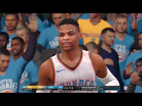 Xbox One X Enhanced - NBA LIVE 18 | OKC VS GSW 27 Minutes of Gameplay (2160p 60fps)