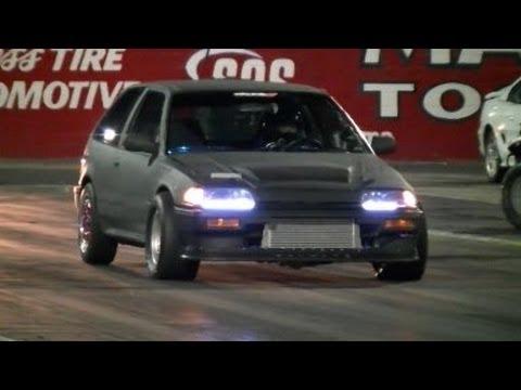 Turbo Honda Civic (4-th Gen) vs Chevy Camaro
