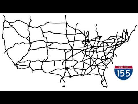 US NUMBERED INTERSTATE HIGHWAY